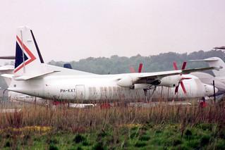 PH-KXT Fokker 50 20256 @ Woensdrecht 2 mei 1993 by J.Hetebrij