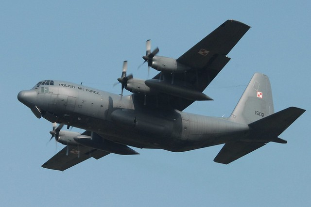 C-130E Hercules 1502 14ELT Polish-AF/ PWL. Leeuwarden, 10-04-2015.