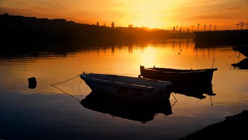 city morning light shadow sea sky sun reflection water sunrise turkey gold dawn exposure flickr peace magic istanbul goldenhorn owllight cockleboat nikond800 flickrturkey