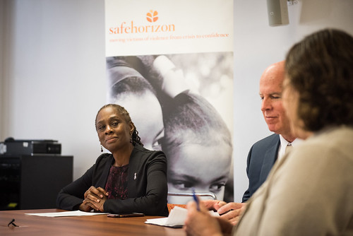 First Lady, Chirlane McGray, meets with NYPD Crime Victim Advocate and NYPD Commissioner, James P. OÃNeill and Deputy Commissioner,Susan Herman at Safe Horizon Learning Center in Brooklyn on Wednesday, October 26th, 2016. Safe HorizonÃs mission is to prov | by nycmayorsoffice