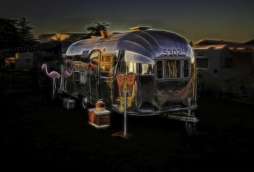 morning camping sunset sunrise evening trailer rv airstream traveltrailer vintagetraveltrailer