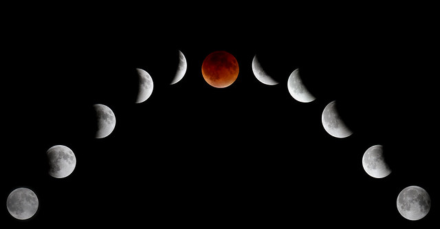 Supermoon Eclipse Composite