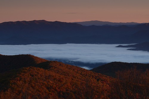 sunrise georgia october appalachianmountains brasstownbald hiwasseega