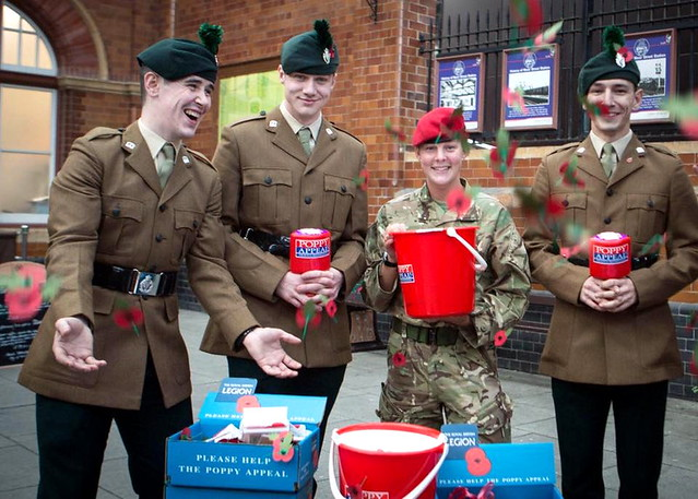 Royal Irish Regiment.- The Royal British Legion launches their annual charity poppy appeal November 2016.