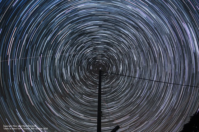 65 Minute Star Trails from Astro Farm, France 30/10/16