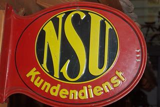 NSU Kundendienst Logo ab ca. 1930