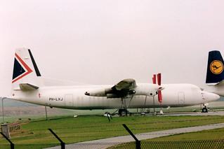 PH-LXJ Fokker 50 20270 @ Woensdrecht 2 mei 1993 by J.Hetebrij