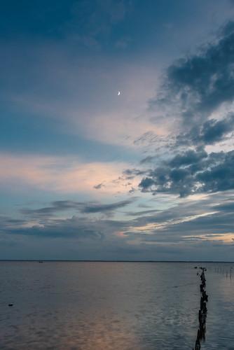 sunset moon landscape nikon nikond810 140240mmf28
