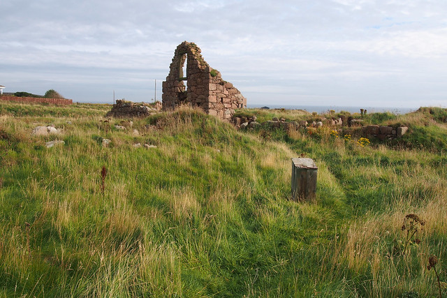 The remains of Boddam Castle
