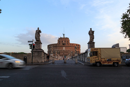 Morning traffic in front of the Castel Sant'Angelo | by Jesse M Lynch