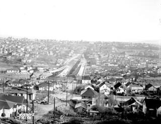 Rainier Avenue overpass, 1954