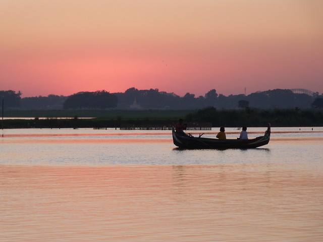 Atardecer en Myanmar