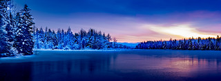 Winter at Irishtown Reservoir | by James P. Mann