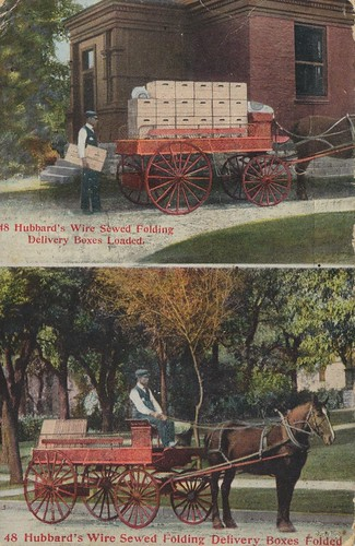 horse vintage advertising carriage postcard 1909 dualview