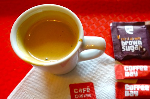 double espresso Cafe Coffee Day, Amber, near Jaipur, India ...