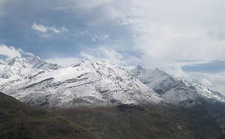 fresh snow fall at lauhal spiti 1-   by himshimlalive