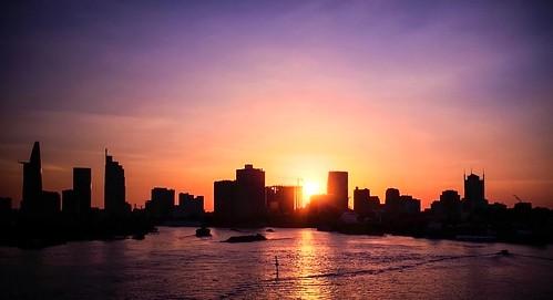 vscocam vsco cityscape endtheyear raikko iphone6s mobiography iphoneography sunset city bitexco thuthiem thủthiêm vietcombank tower silhouettes riversaigon saigon river riverside vietnam landscape vietnamese citiscape