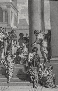 Luke in the Phillip Medhurst Collection 595 Peter and John at the Beautiful Gate Acts 3:5-8 Marillier