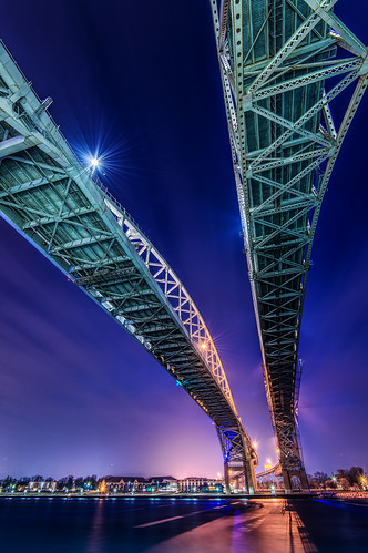 bluewater bridge sarnia ontario night dark canada nikond800e nikon1635mmf4 winter seascape nature cityscape longexposure landscape river clouds explore