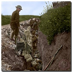 Here is my latest post for Remembrance week. This is a restoration of our boys in St. John's Road, a support trench, 200 metres behind the British forward line at Beaumont Hamel, circa June 29, 1916, just days before the Battle.