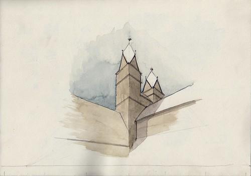 Watercolour Mass Study (Halberstadt, Liebfrauenkirche) | by Namtra