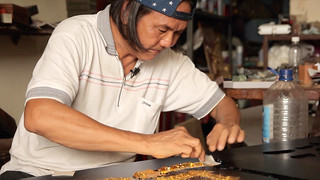 The Hip-Pop SIGNBOARD CARVER • Craftsman Shows How to Make • George Town • MALAYSIA-22 | by OXLAEY.com