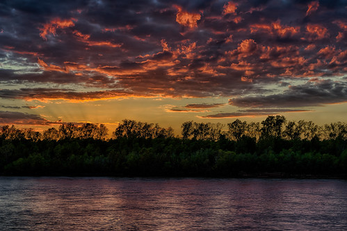 blue trees red silhouette clouds reflections dark louisiana glow redriver bossiercity