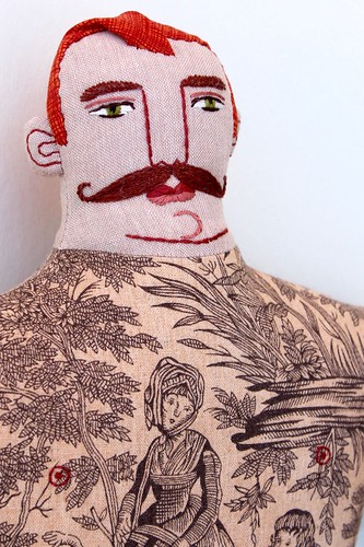 big man face, red hair, mustache | by Mimi K