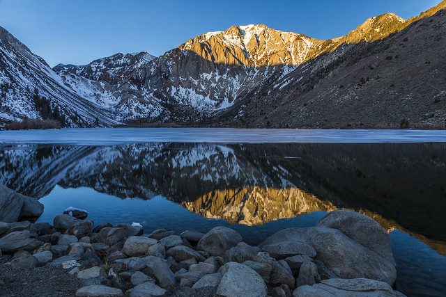 Start of the day in the Eastern Sierras