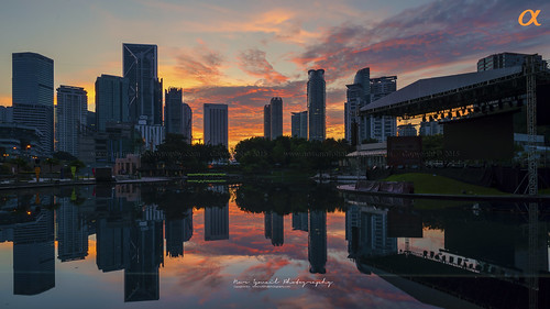morning clouds sunrise buildings asia capital towers malaysia kualalumpur klcc condominium klccpark