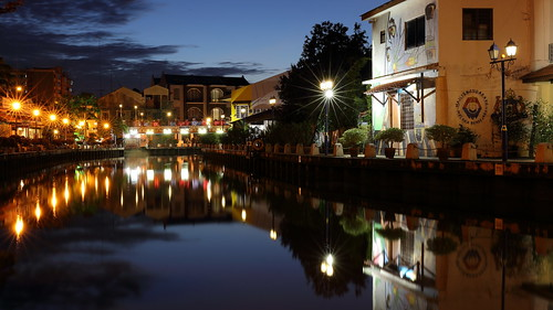 morning travel light reflection canon river dawn town is scenery long exposure quiet view calm malaysia destination serene ef tranquil melaka malacca 2470mm f4l