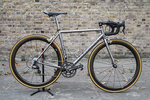 Wittson custom titanium road bicycle project build with Titanium fork & seatpost Campagnolo Record groupset Zipp 303 wheelset Thomson bike products | by Wittson