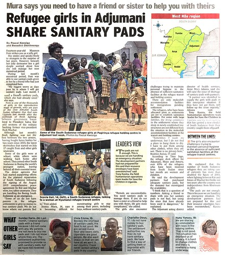 Sharing Sanitary Pads | by ADRA Uganda
