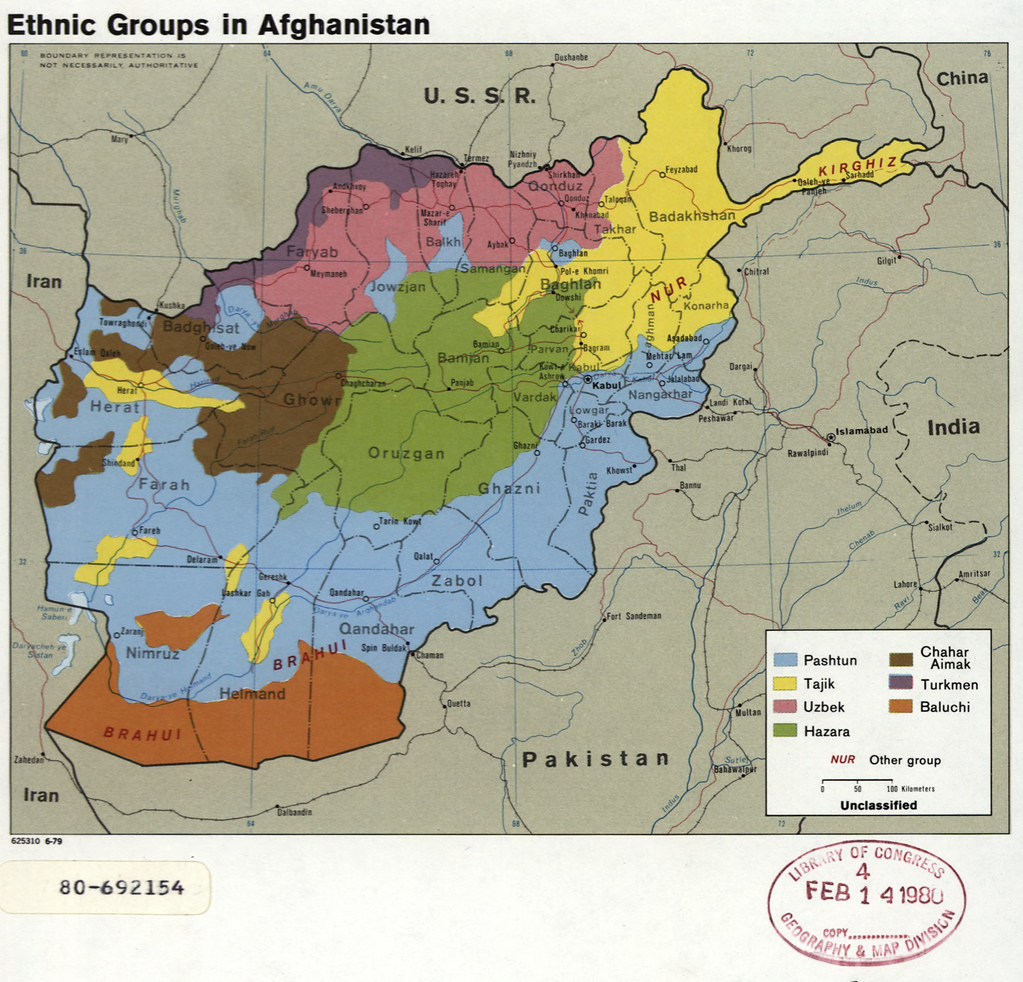 1979 Afghanistan Ethnic Groups