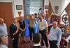 Besichtigung der Feuerwehrausstellung, im Bild ehemalige Feuerwehrhauptmänner. Foto: Cornel Gruber