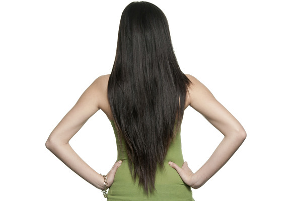 Long V Layered Haircut Back View