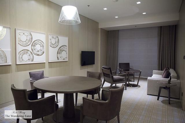 Living area of Brilliant Suite