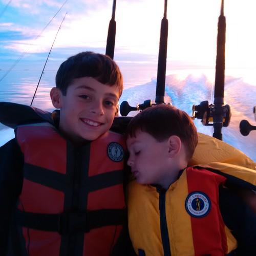Photo of two boys fishing
