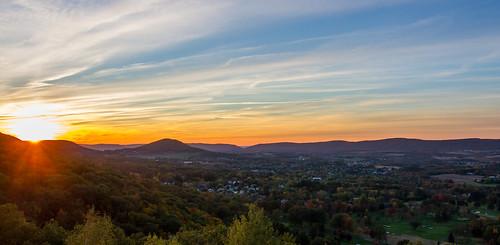 sunset panorama us unitedstates pennsylvania pa valley sugarloaf sugarloafmountain conyngham topofthe80s