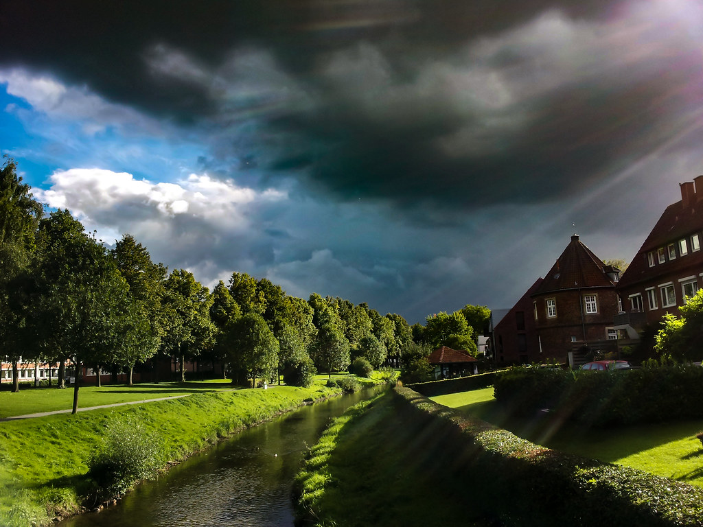 Dark clouds and sunshine