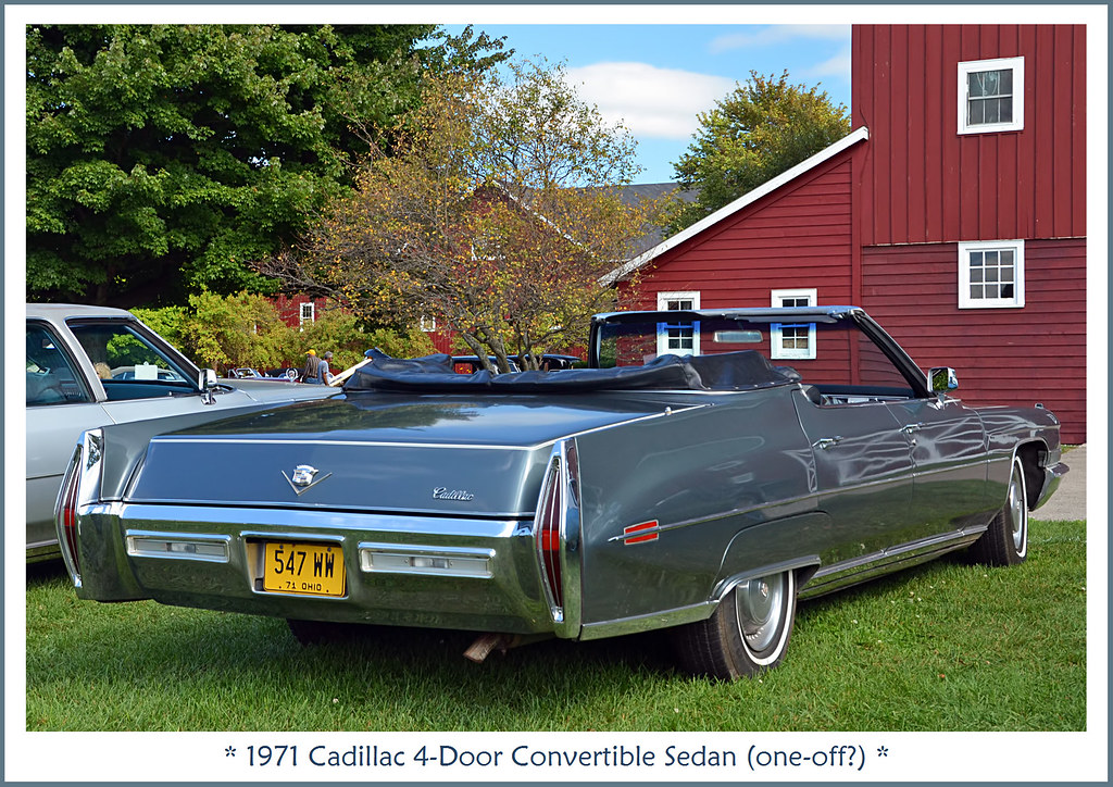 4 Door Convertible >> 1971 Cadillac 4 Door Convertible Sedan One Off The Sept