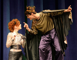 Mon, 10/24/2016 - 17:26 - A Midsummer Night's Dream performers - Puck, on the left, played by Alannah Gross from East Bethany, NY  Oberon, on the right, played by Pedro Pires de Arujo from Brazil