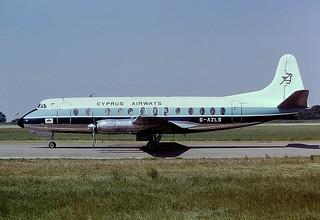 G-AZLS V Viscount Cyprus airways ( BMA) EMA 08-06-75