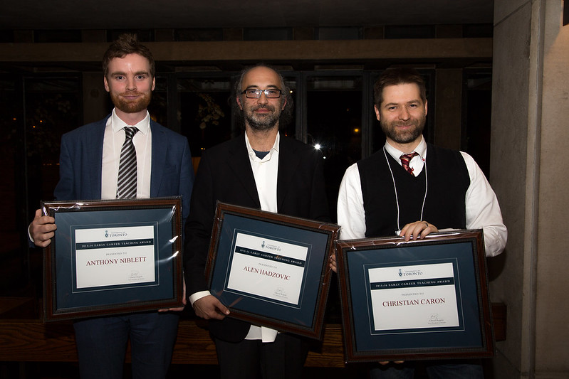 On November 9, 2016, the 3rd annual Excellence in Teaching Reception was held at Massey College to honour the recipients and nominators of internal and external awards in the previous academic year.   (Photos by Johnny Guatto)