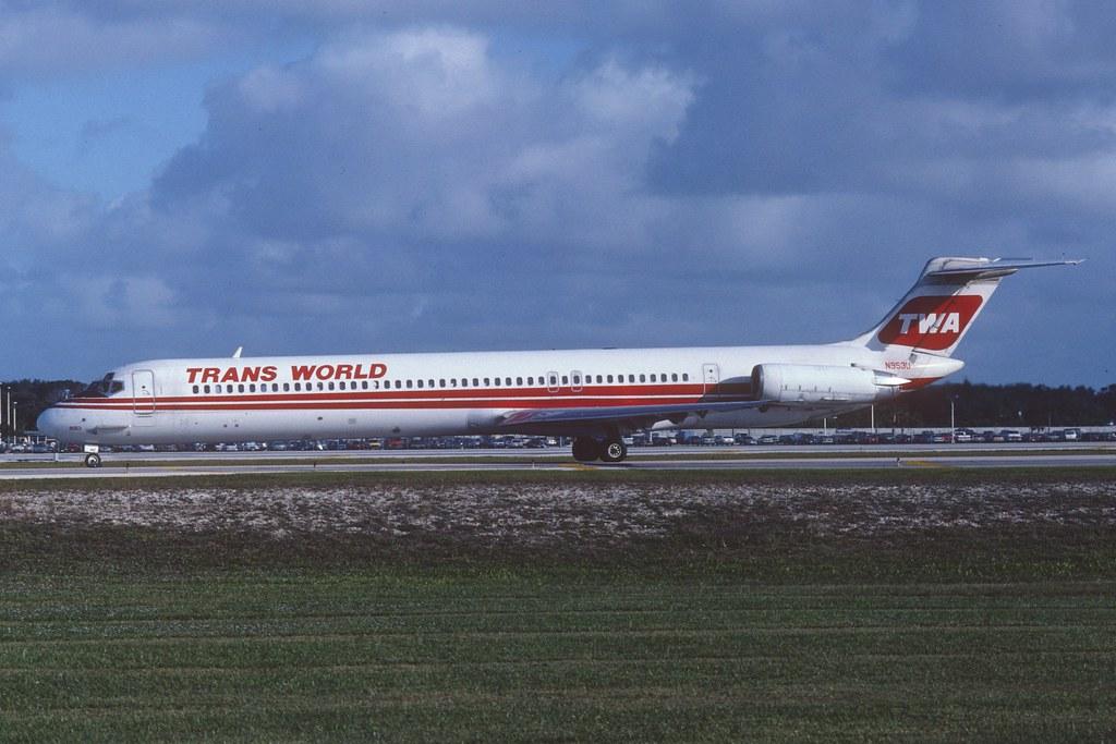 Twa Md 82 N953u Fll December 1992 First Flight