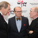 Mon, 02/11/2015 - 8:27pm - Charlie Rose, Charles Osgood, and Fordham President Fr. Joseph McShane, S.J. November 2, 2015 in New York City. Photo by Chris Taggart.