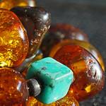 amber & turquoise