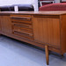 Large dark wood stained sideboard