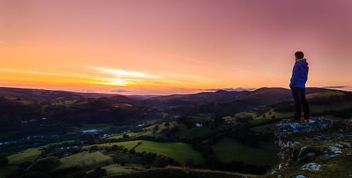 deeriver deevalley llangollen sunset landscape outdoors nature dinasbran wales castle