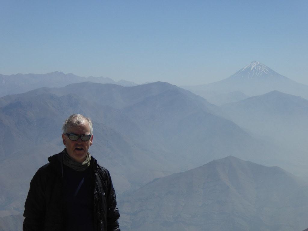 Damavand from the summit of Mt Tochal, Iran (3,962m)